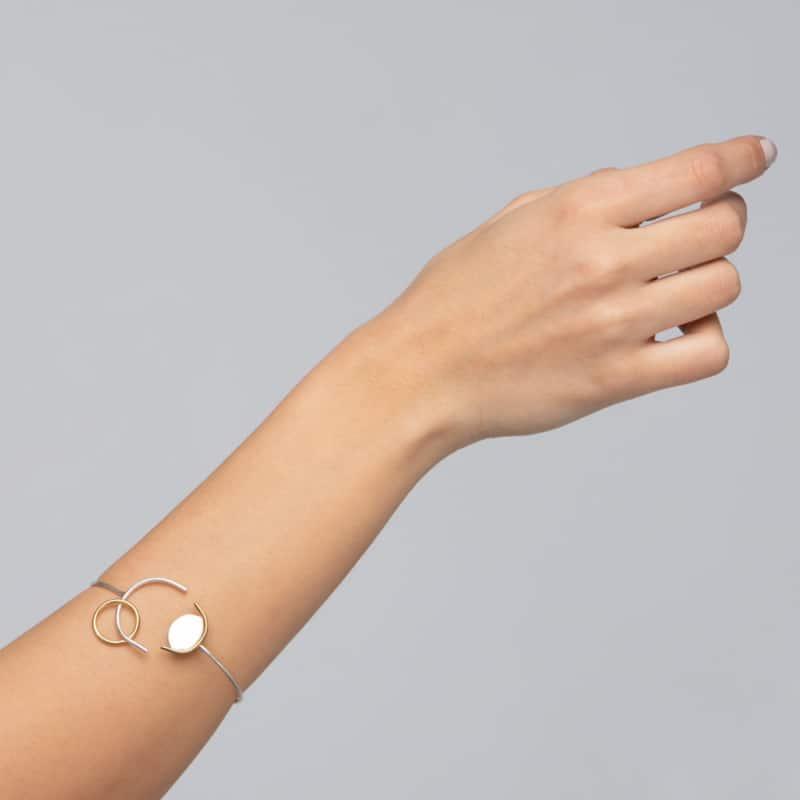 Two Tone Multi Shape Bracelet