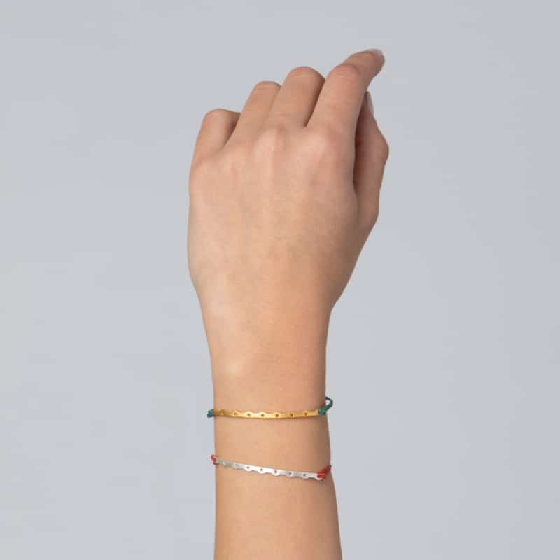 Fine Silver Cord Bracelet