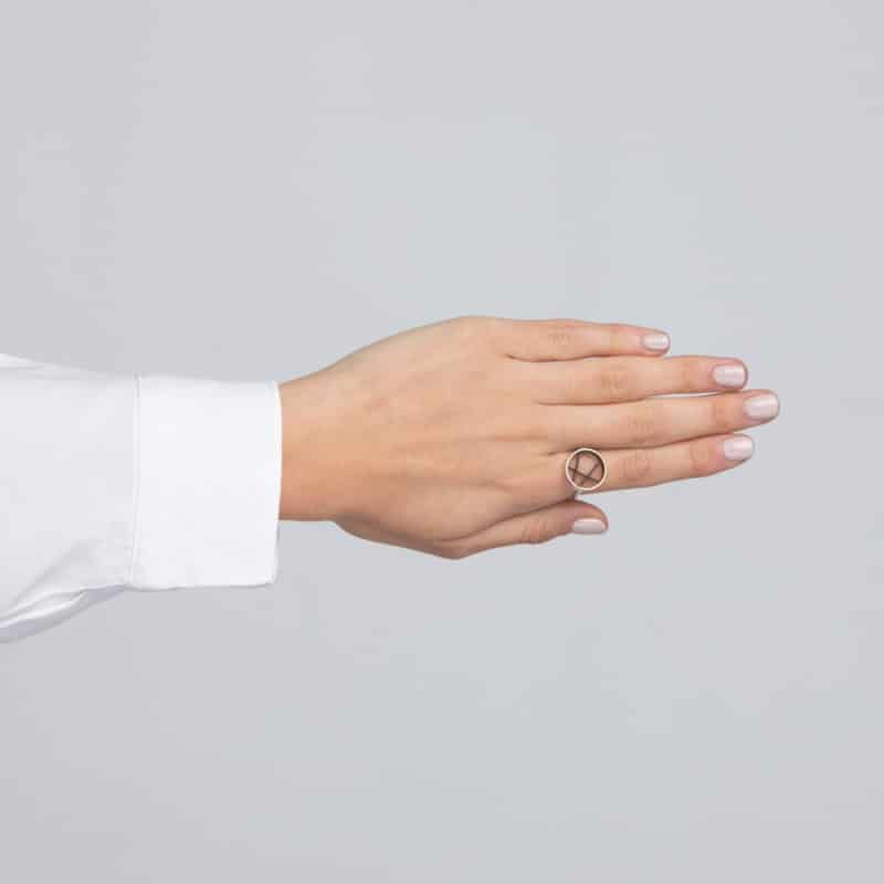 Diffraction Adjustable Silver Ring
