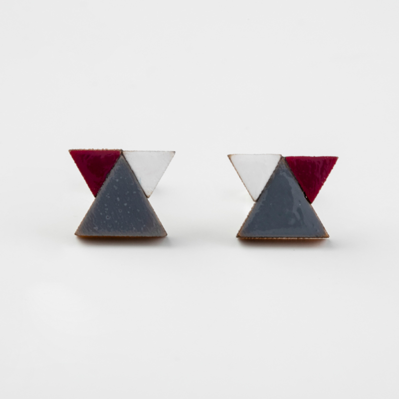 Mini Geometric Wooden Studs