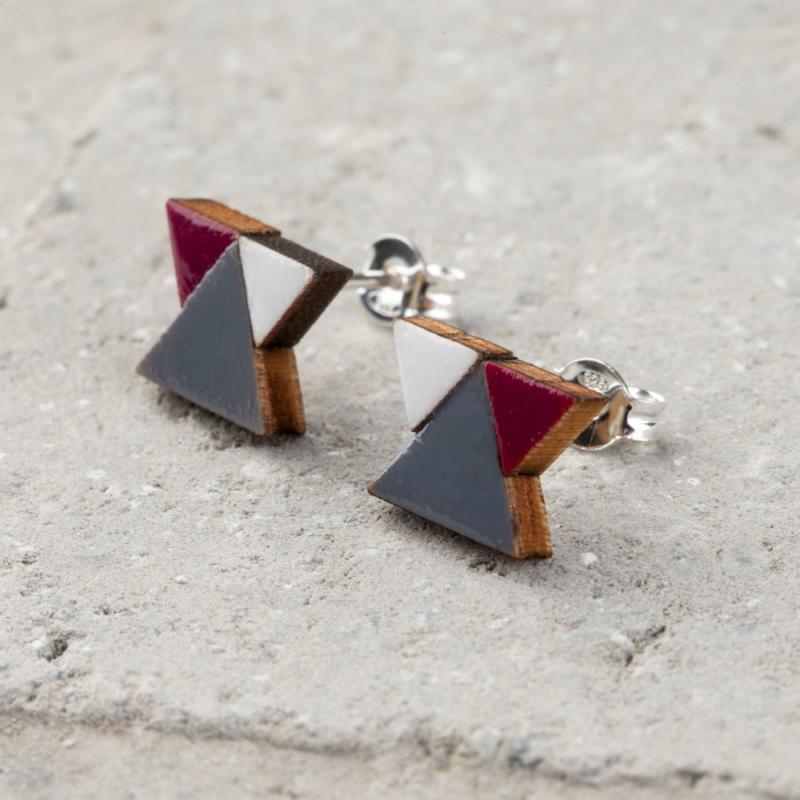 Mini Geometric Wooden Studs