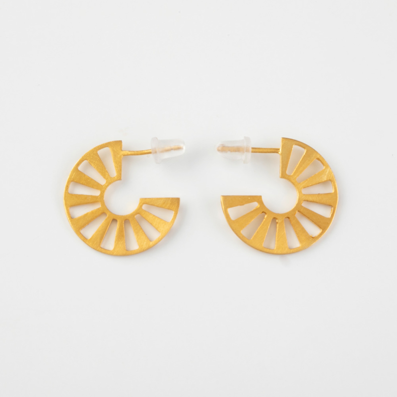 Harena Gold Hoop Earrings
