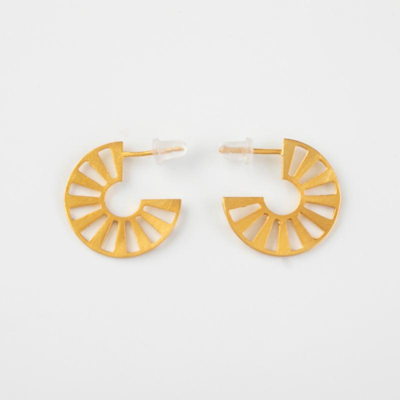 Harena Gold Hoop Earrings