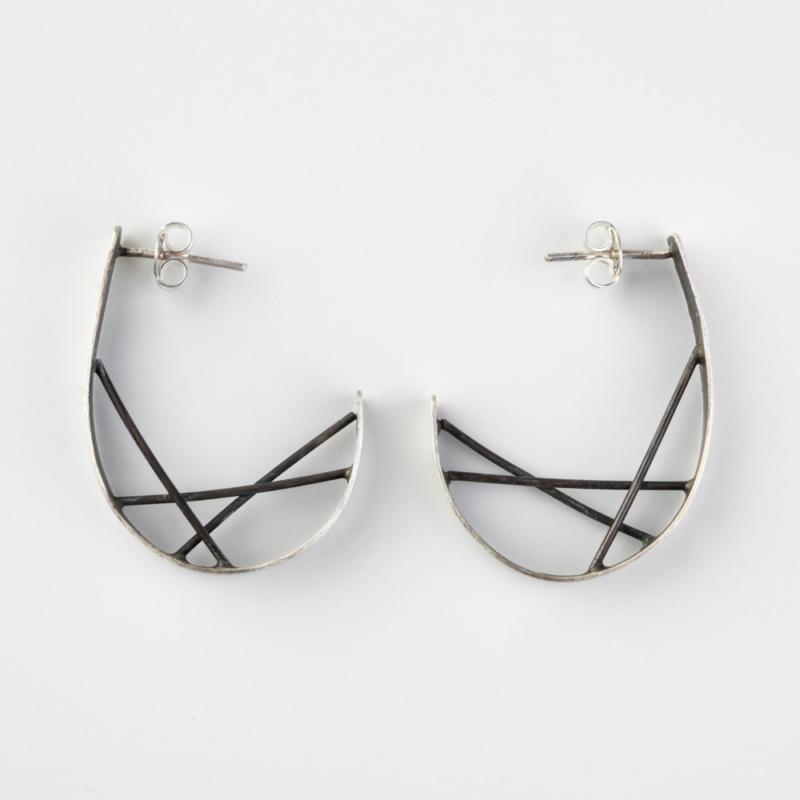 Diffraction Hoop Earrings