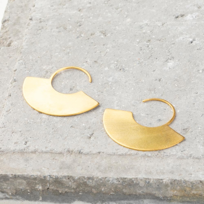 Gold Flat Hoops