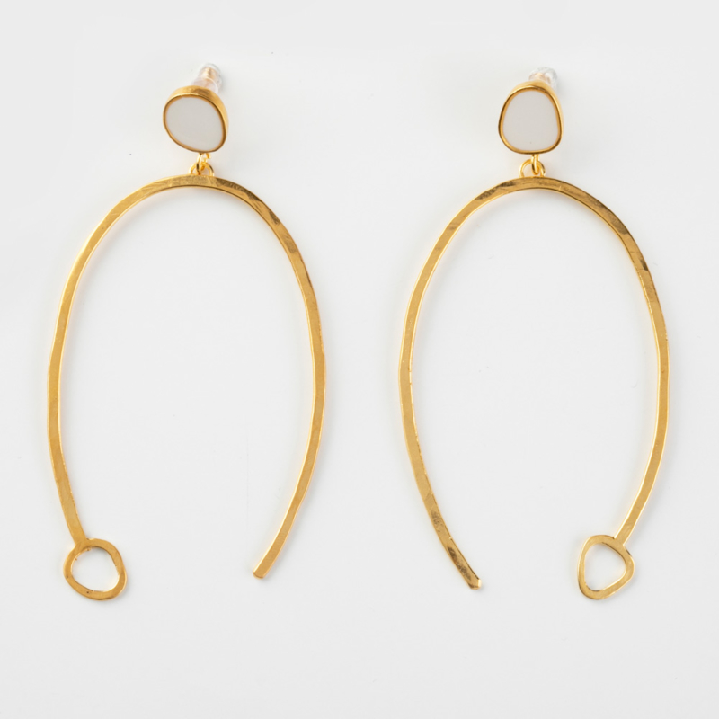 Large U Shaped Dangle Earrings