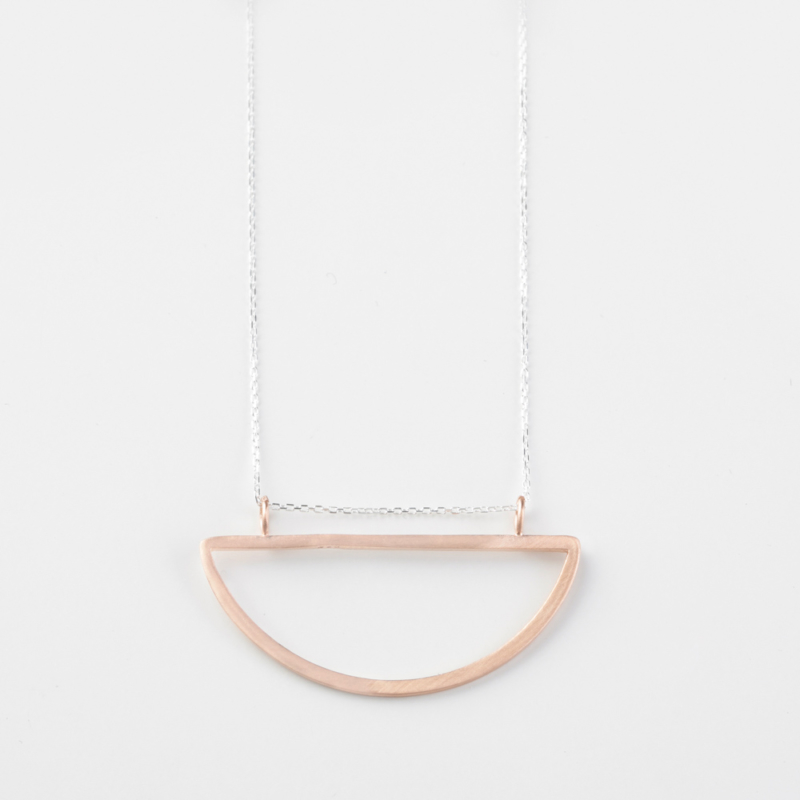 Half Circle Rose Gold Necklace