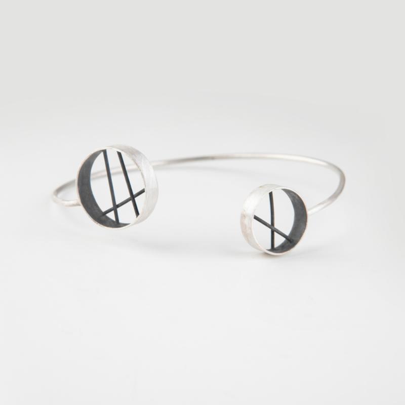 Diffraction Open Bangle Bracelet