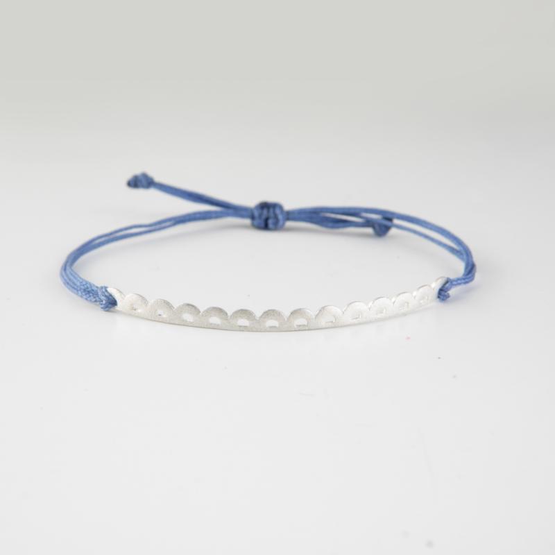 Lace Silver Cord Bracelet