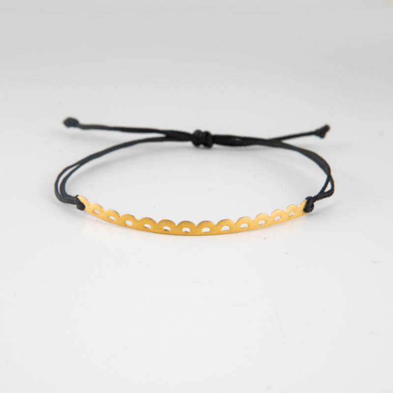 Lace Gold Cord Bracelet