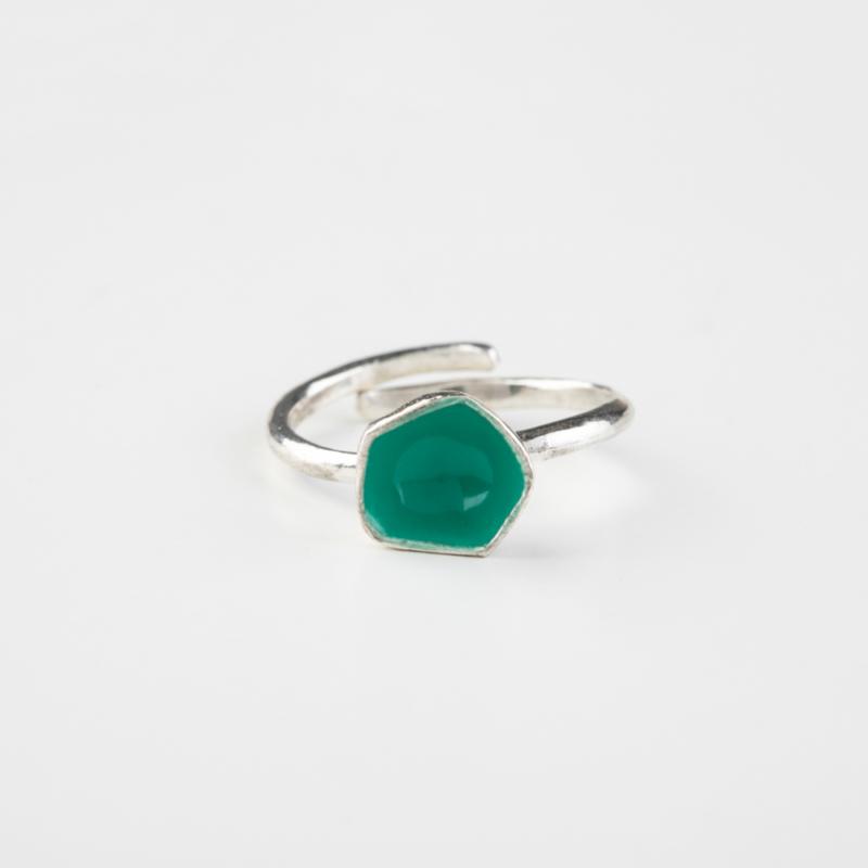 Irregular Circle Silver Ring
