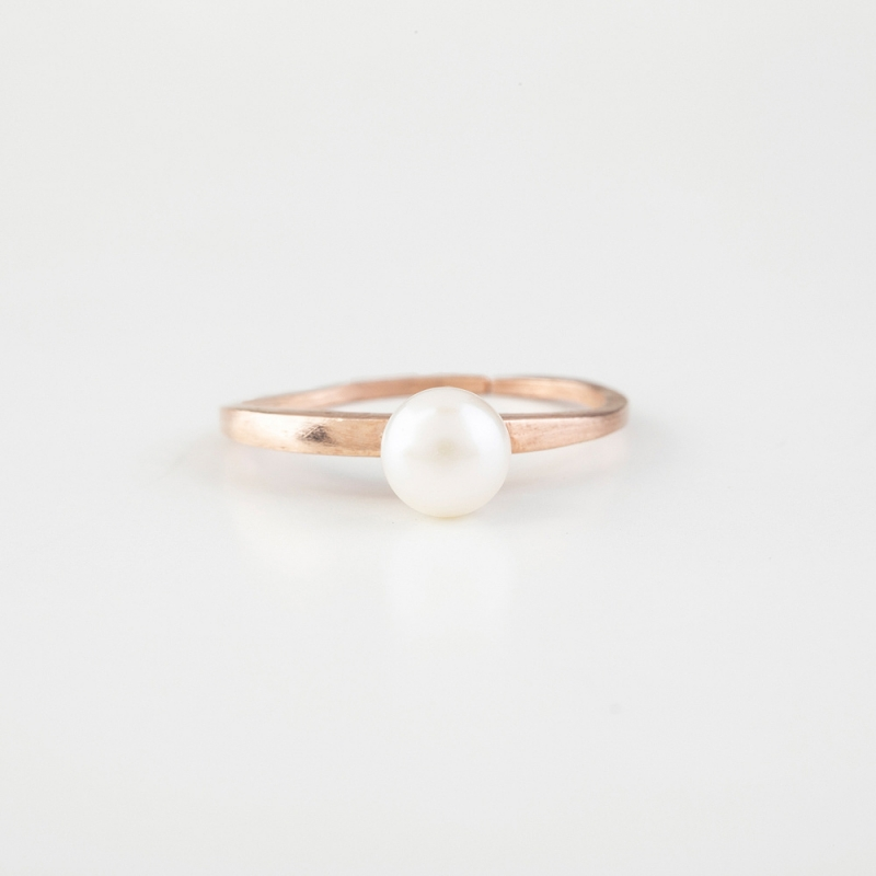 Pearl Rose Gold Ring