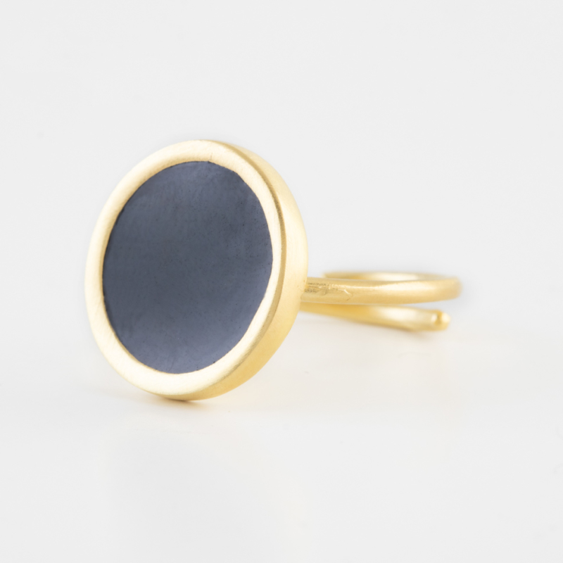 Circle Gold Ring with Adjustable Band