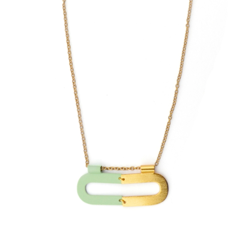Iona Two Tone Gold Plated Necklace