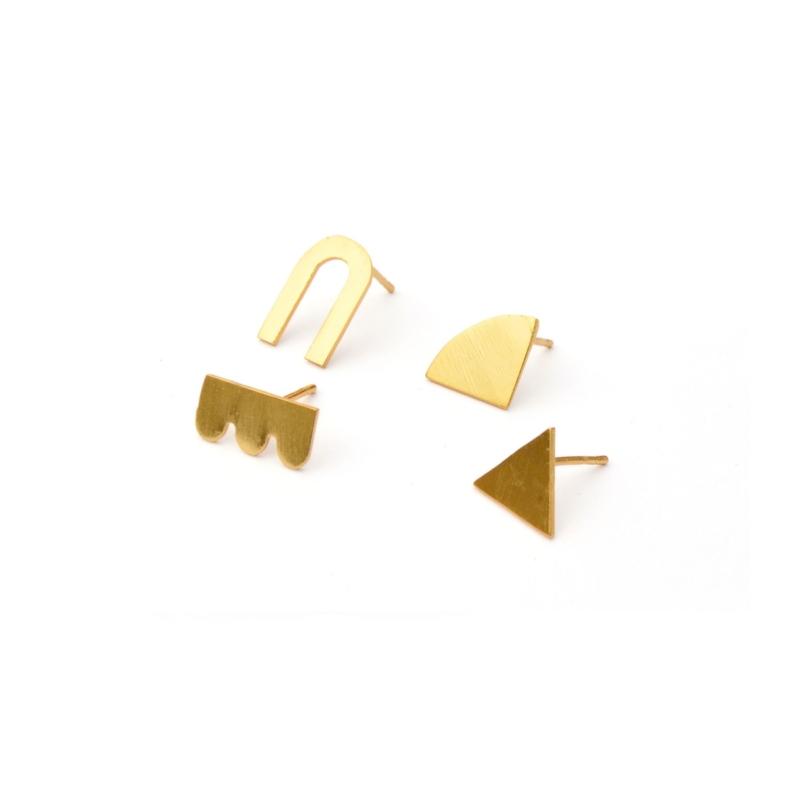 Mismatched Gold Studs