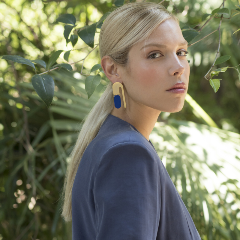 Oxna Gold Plated Statement Earrings