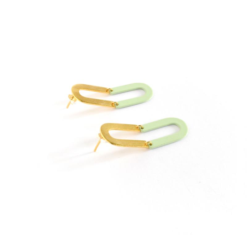 Iona Two Tone Hoop Earrings