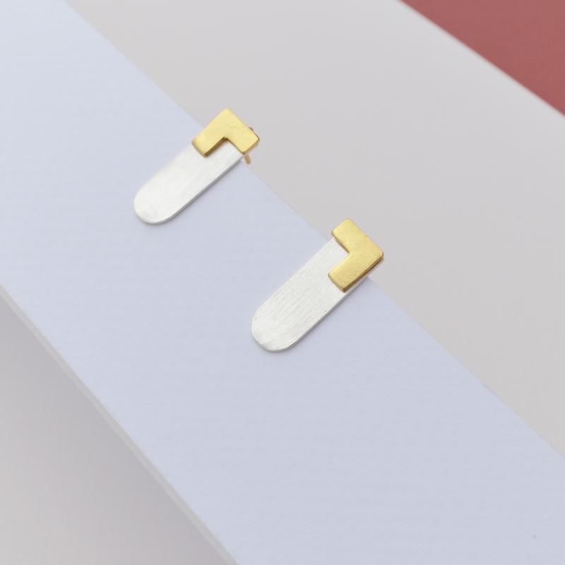 Geometric Gold Ear Jackets