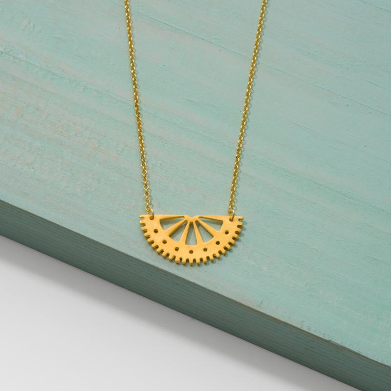 Half Circle Gold Necklace